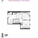 Artists' Alley Condos - Violet - Floorplan