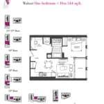 Artists' Alley Condos - Walnut - Floorplan