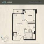 Oak & Co Condos - Ash - Floorplan