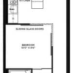 The Logan Residences - 1 Bed, Den, and 1 Bath - Ashdale Floorplan