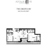 Avenue 151 Yorkville Condos - UPH01 - Floorplan