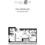 Avenue 151 Yorkville Condos - UPH02 - Floorplan