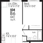 B-Line Condos - Suite B6 - Floor Plan
