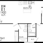 B-Line Condos - Suite E1 - Floor Plan