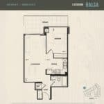 Oak & Co Condos - Balsa - Floorplan