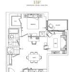 Bianca Condos - 1BR - Floorplan