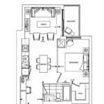 Bianca Condos - 1D+M - Floorplan