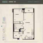 Oak & Co Condos - Birch - Floorplan