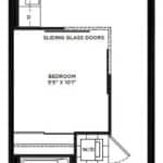 The Logan Residences - 1 Bed, Den, and 1 Bath - Booth BF Floorplan