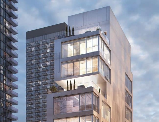Bungalow on Mercer Condos - Street Level View - Exterior Render