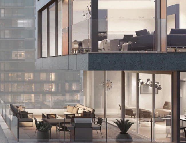 Bungalow on Mercer Condos - Suite - Balcony - Exterior Render