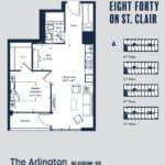 Eight Forty Condos - Arlington - Floorplan