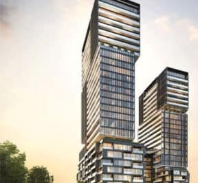 Galleria On the Park - East Street Level View - Exterior Render