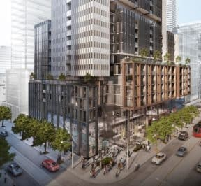 King & Charlotte Condos - Street Level View - Exterior Render