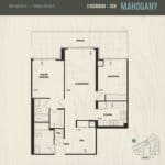 Oak & Co Condos - Mahogany - Floorplan