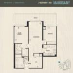 Oak & Co Condos - Mahogany - Floorplan