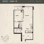 Oak & Co Condos - Maple - Floorplan