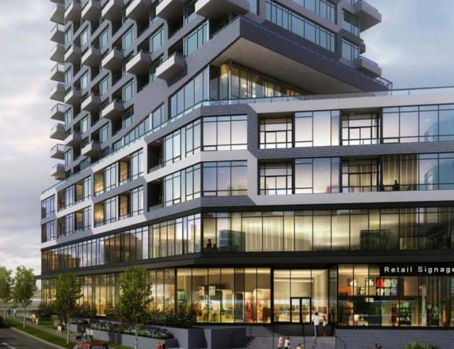 Oak and Co - Street Level View - Exterior Render