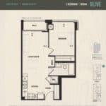 Oak & Co Condos - Olive - Floorplan