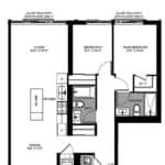 The Logan Residences - 3 Bed, and 2 Bath - Queensvale Floorplan