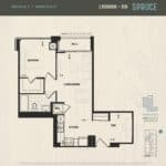 Oak & Co Condos - Spruce - Floorplan