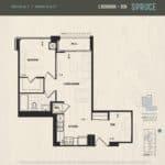 Oak & Co Condos - Spruce - Floorplan