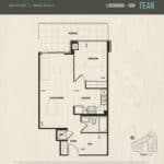 Oak & Co Condos - Teak - Floorplan