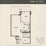 Oak & Co Condos - Teak - Floorplan