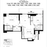 The Humber Condos - 2H - Floor Plan