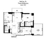 The Humber Condos - 3A-TR - Floor Plan