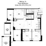 The Humber Condos - 3B1 - Floor Plan
