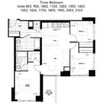 The Humber Condos - 3C - Floor Plan