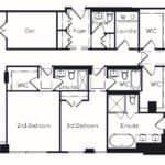 The Insignia - The Beaulieu - 3 + Den - Floorplans