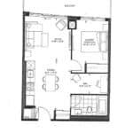 The Point Condos at Emerald City - Bardot - Floorplan