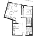 The Point Condos at Emerald City - Valentino - Floorplan