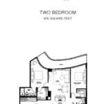 Avenue 151 Yorkville Condos - UPH04 (1233 sq ft) - Floorplan