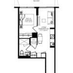 WEST Condos - 1A - Floorplan