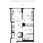 WEST Condos - 1B-D - Floorplan