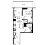 WEST Condos - 1C - Floorplan