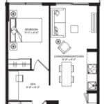 WEST Condos - 1D-D - Floorplan