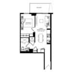 WEST Condos - 1D - Floorplan