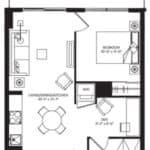 WEST Condos - 1E-D - Floorplan