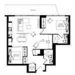 WEST Condos - 2B-D - Floorplan