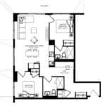 WEST Condos - 2C-D - Floorplan