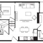 WEST Condos - 2F-D - Floorplan