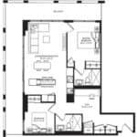 WEST Condos - 2G-D - Floorplan