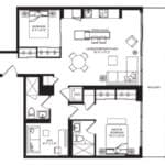 WEST Condos - 2H-D - Floorplan
