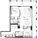 WEST Condos - 2J-D - Floorplan