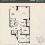 Oak & Co Condos - Willow - Floorplan