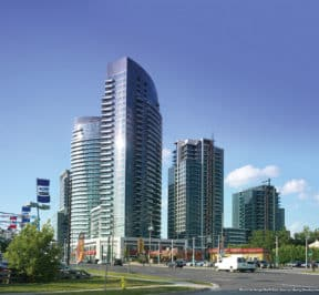 World On Yonge North East View by Liberty Development